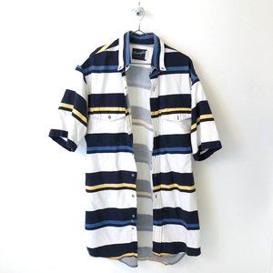 vintage striped wrangler button down shirt